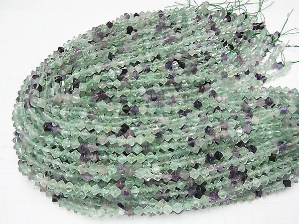 High Quality! 1strand $7.79! Multicolor Fluorite AA Faceted Button Roundel 6x6x5.5mm 1strand (aprx.15inch / 37cm)