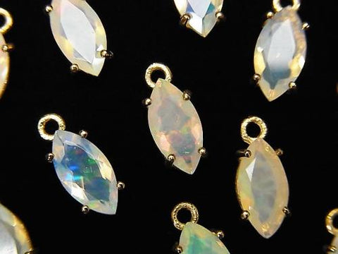 High Quality Ethiopia Opal AAA Bezel Setting Marquise Faceted 10x5mm 18KGP 2pcs $19.99!