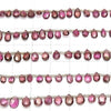 High Quality Pink Tourmaline AAA- Small Size Pear shape Faceted Briolette half or 1strand (aprx.7inch / 18cm)