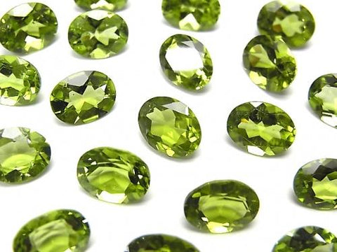 High Quality Peridot AAA Undrilled Oval Faceted 9x7mm 2pcs $9.79!