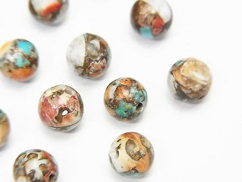 Oyster Copper Turquoise Round 6mm 5pcs $4.79!
