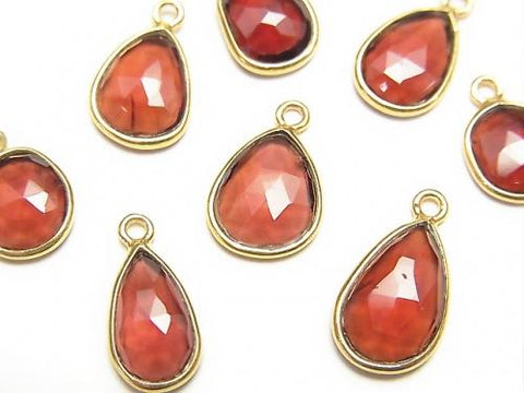High Quality Mozambique Garnet AAA Bezel Setting Rose Cut [Free Form] [One Side] 18KGP 4pcs $11.79!