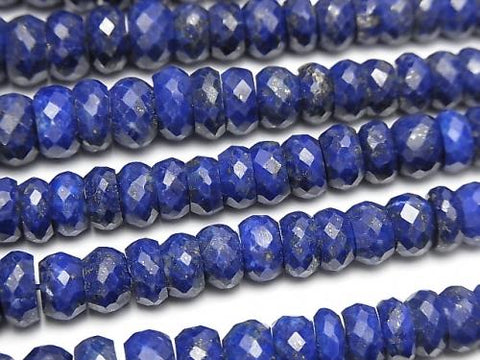 1strand $44.99! Lapislazuli AA++ Faceted Button Roundel  1strand (aprx.15inch/38cm)