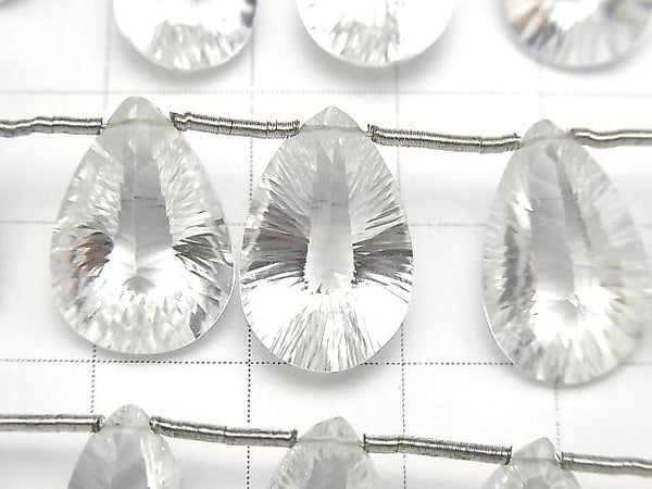High Quality Crystal AAA Pear shape Concave Cut half or 1strand