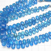 1strand $69.99! High Quality Neon Blue Apatite AAA- Pear shape (Smooth) 1strand (aprx.7inch / 18cm)