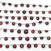 1strand $24.99! High Quality Mozambique Garnet AAA Chestnut Faceted Briolette Size Gradient 1strand (13pcs).