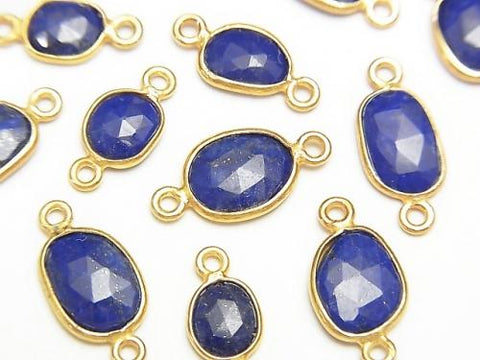 Lapislazuli AA ++ Bezel Setting Freeform Rose Cut [Both Side] 18KGP 4pcs $6.79!