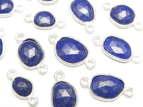 Lapislazuli AA ++ Bezel Setting Freeform Rose Cut [Both Side] Silver925 4pcs $6.79!