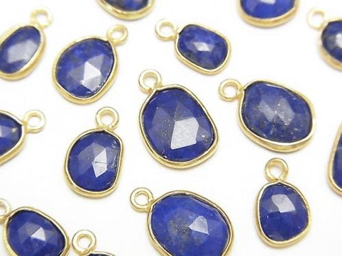 Lapislazuli AA ++ Bezel Setting Freeform Rose Cut [One Side] 18KGP 4pcs $6.79!