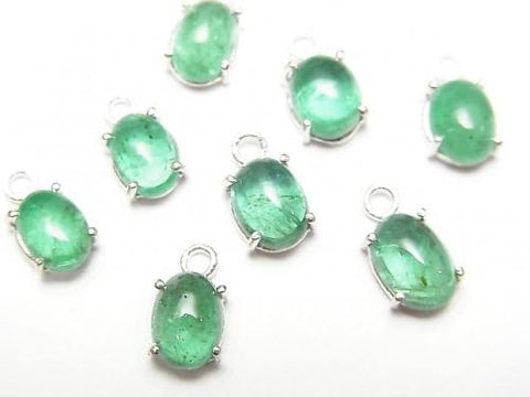Brazil High Quality Emerald AAA Bezel Setting Oval 6x5mm Silver925 1pc $29.99!