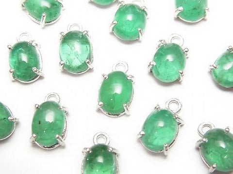 Brazil High Quality Emerald AAA Bezel Setting Oval 7x5mm Silver925 1pc $39.99!