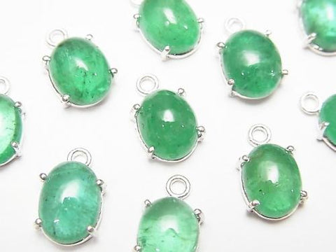 Brazil High Quality Emerald AAA Bezel Setting Oval 8x6mm Silver925 1pc $49.99!