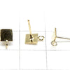 Earstuds Earrings Square 5mm 1pair $5.79! With 14KGF Jump Ring!