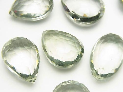 High Quality Green Amethyst AAA Chestnut -Pear shape Faceted Briolette 2pcs $34.99!