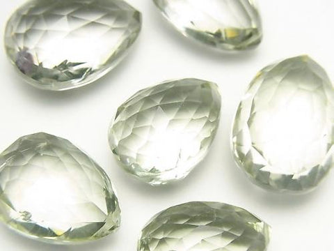 High Quality Green Amethyst AAA Chestnut -Pear shape Faceted Briolette 2pcs $49.99!