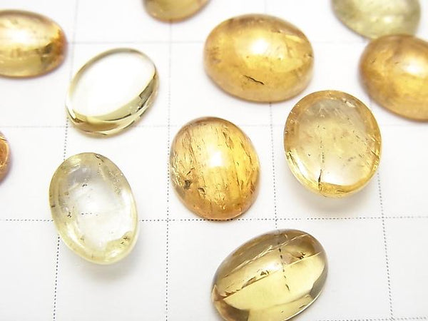 High Quality Imperial Topaz AAA- Oval Cabochon 10-10.5x7.5-9mm 3pcs $36.99!