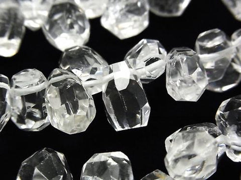 Crystal AA ++ Faceted Nugget Top Side Drilled Hole half or 1strand (aprx.14inch / 35cm)