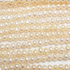 1strand $14.99! Fresh Water Pearl AA ++ Potato 5mm White 1strand (aprx.15inch / 37cm)