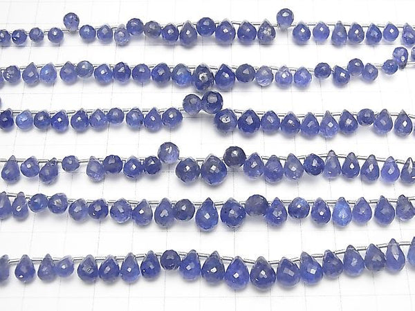 High Quality Tanzanite AAA Drop  Faceted Briolette  half or 1strand (32pcs )