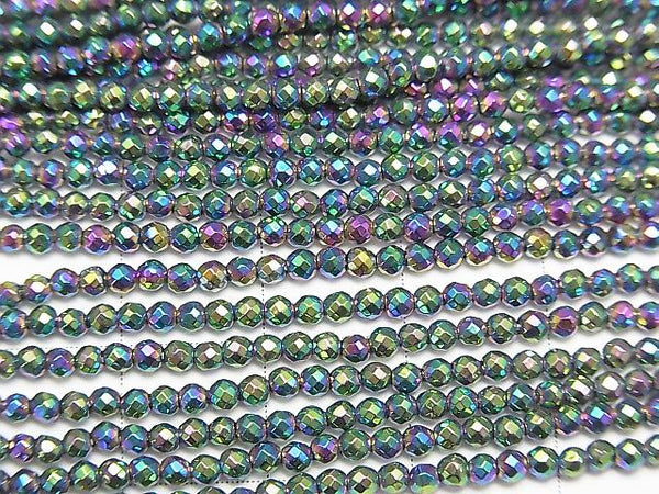 1strand $7.79! Hematite Faceted Round 2mm Metallic Coating 1strand (aprx.14inch/34cm)