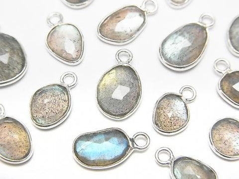 High Quality Labradorite AAA Bezel Setting Rose Cut [Free Form] [One Side] Silver925 4pcs $8.79!