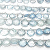 High Quality Santa Maria Aquamarine AAA- Chestnut Faceted Briolette half or 1strand (aprx.7inch/17cm)