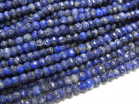 1strand $12.99! Lapislazuli AA+ Faceted Button Roundel  1strand (aprx.13inch/32cm)
