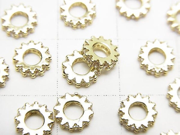 Metal Parts Roundel 6x6x1.5mm Gold with CZ 3pcs $2.79!