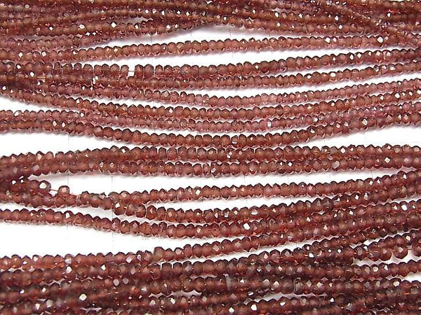 1strand $12.99! High Quality Garnet AAA Faceted Button Roundel  1strand (aprx.15inch/36cm)