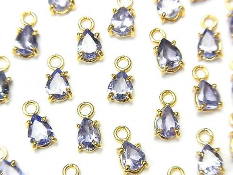 High Quality Tanzanite AA++ Bezel Setting Pear shape Faceted 5x4mm 18KGP 2pcs $9.79!