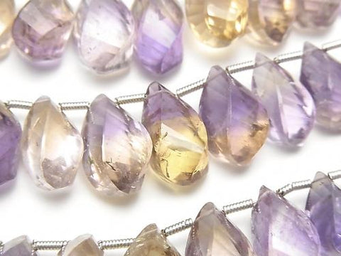 1strand $49.99! High Quality Ametrine AA++ Drop 4Faceted Twist  Faceted Briolette  1strand (aprx.8inch/20cm)