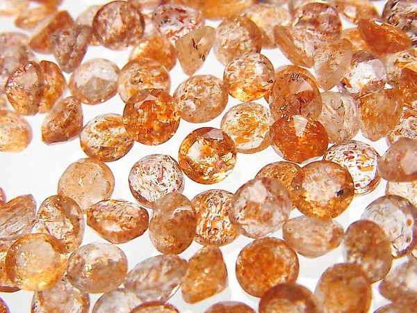 High Quality Sun Stone AAA Undrilled Round Faceted 5x5mm 6pcs $5.79!
