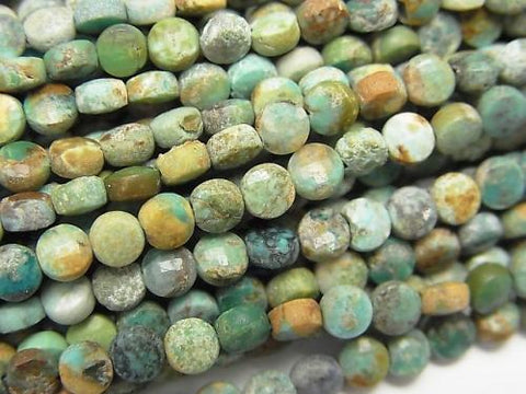 High Quality!  1strand $6.79! Turquoise AA Faceted Coin 4x4x2mm 1strand (aprx.15inch/37cm)