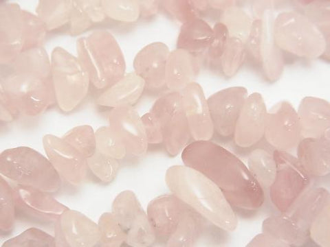 1strand $5.79! Deep Rose Quartz AA++ Chips (Small Nugget )1strand (aprx.33inch/84cm)