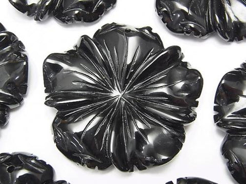 Onyx Flower 40x40x8mm 1pc $5.79!