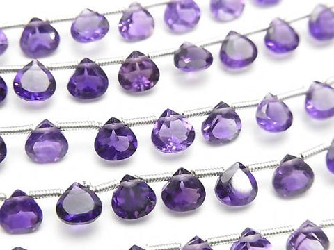 1strand $12.99! High Quality Amethyst AAA Chestnut  Faceted 6x6mm 1strand (11pcs )