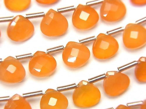 High Quality Cornelian AAA Chestnut  Faceted Briolette 6x6mm half or 1strand (28pcs )