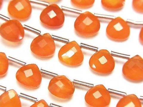 High Quality Cornelian AAA Chestnut Faceted Briolette 6x6mm [Dark Color] half or 1strand (28pcs ).