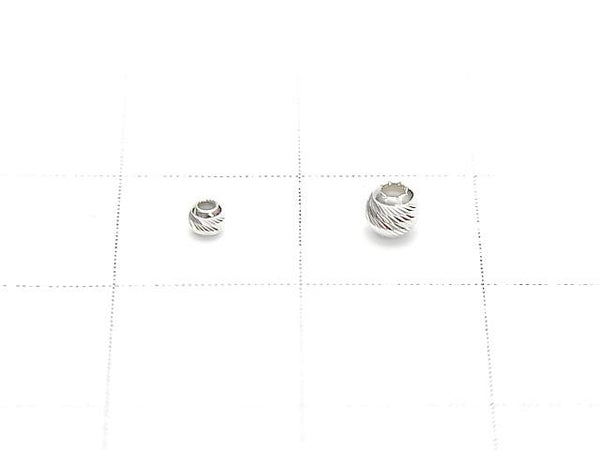 Silver925 Round Multi Cut 2mm,3mm Rhodium Plated 10pcs $2.79