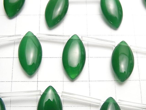 Green Onyx AAA Marquise (Smooth) 18x9mm half or 1strand (aprx.15inch/38cm)