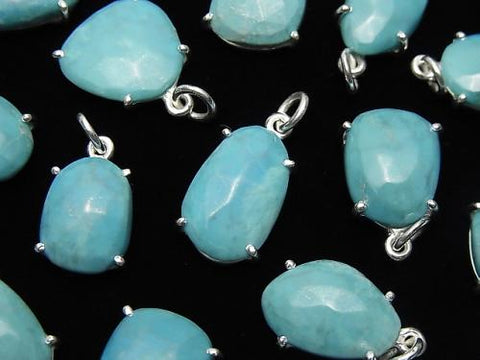 Arizona Sleeping Beauty Turquoise AAA- Bezel Setting Free Form Cut Silver925 2pcs $29.99!