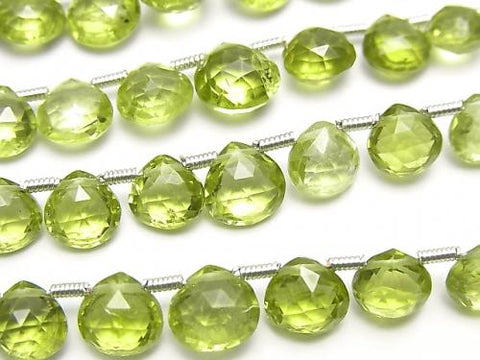 1strand $29.99! High Quality Peridot AAA Chestnut  Faceted Briolette  1strand (13pcs )
