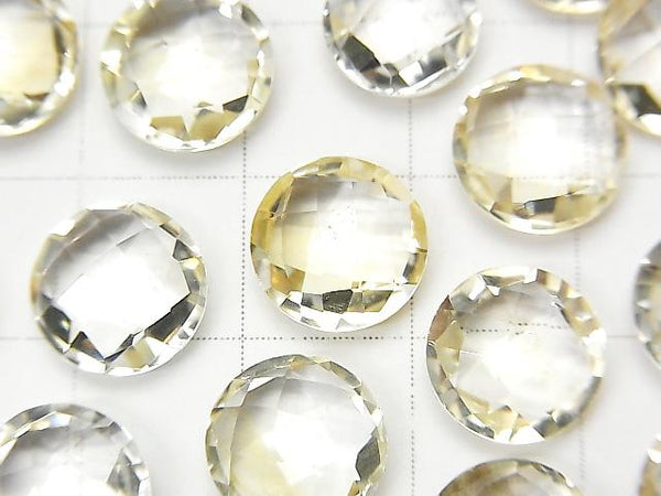 [Video] High Quality Light Color Citrine AAA Undrilled Coin Cushion Cut 10x10mm 5pcs $6.79!