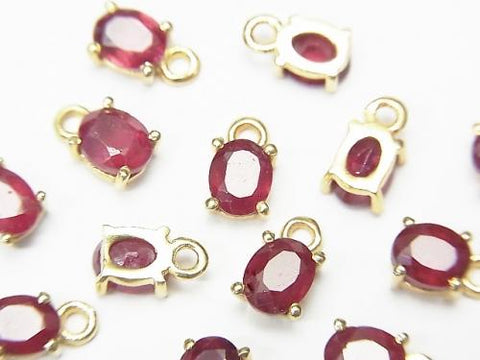 High Quality Ruby AAA- Bezel Setting Oval Faceted 5x4mm 18KGP 2pcs $11.79!
