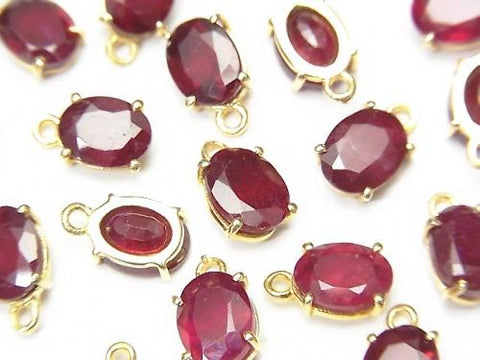 High Quality Ruby AAA Bezel Setting Oval Faceted 8x6mm 18KGP 2pcs $19.99!