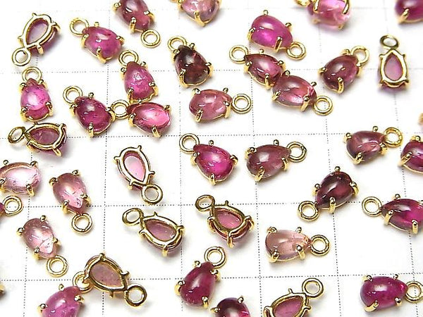 [Video] High Quality Pink Tourmaline AA++ Bezel Setting Pear shape 6x4mm 18KGP 2pcs $8.79!