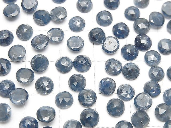 Unheated Blue Sapphire AA++ Round Rose Cut 5x5mm 5pcs $8.79!