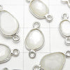High Quality White Moon Stone AAA- Bezel Setting Freeform Rose Cut [Both Side] Silver925 5pcs $7.79!