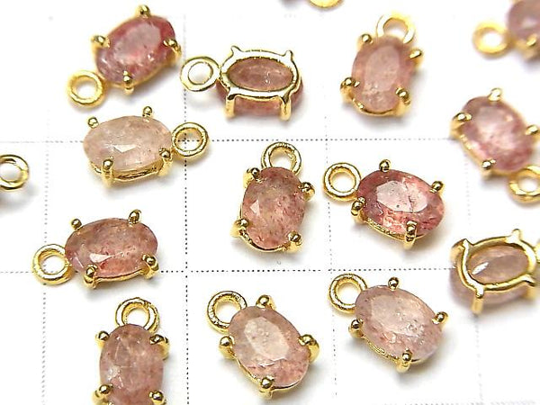 High Quality Pink Epidote AAA- Bezel Setting Oval Faceted 6x4mm 18KGP 3pcs $7.79!