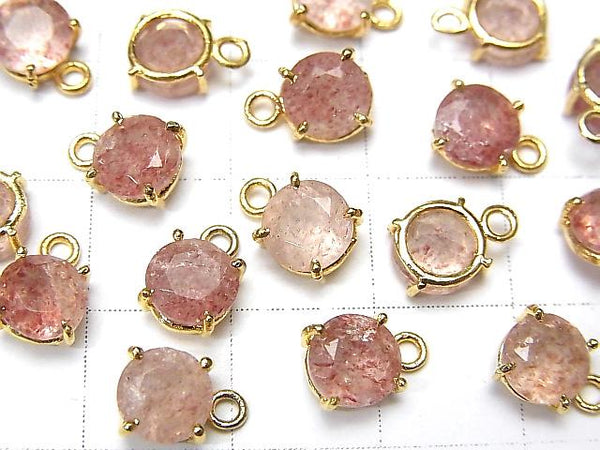 High Quality Pink Epidote AAA- Bezel Setting Round Faceted 6x6mm 18KGP 3pcs $9.79!